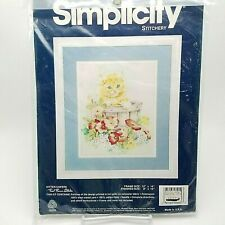 Stamped Cross Stitch Kit Kitten Capers Kitty Cat Simplicity 8 x 10 inch MKE