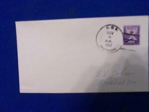 US NAVAL COVER:  1957 USS WISCONSIN