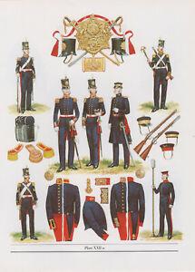 Vintage British Uniform Print 1854 Royal Regiment Of Artillery