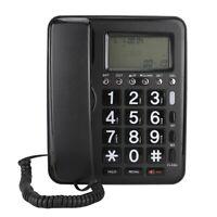 Schnurgebundenes Festnetz Telefon Anrufer ID Display Tischtelefon Schwarz