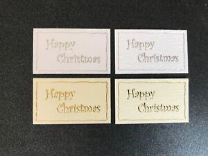 Happy Christmas Appliqué, card topper, sentiment, embellishment lg pk10