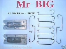 MR BIG JIG HEAD MOULD KIT 10 HOOKS FOR SEA FISHING BOAT ROD TWIN TAIL COD LURES