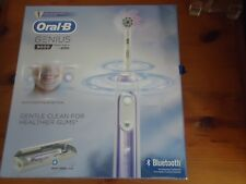 NEW Oral-B Genius 9000 Electric Rechargeable Bluetooth Toothbrush Orchid Purple