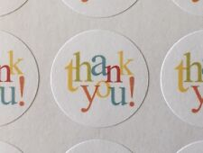 "63 Thank You In Colors !!! ENVELOPE SEALS LABELS STICKERS 1"" Round"