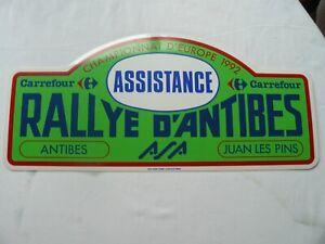 PLAQUE RALLYE D'ANTIBES 1992