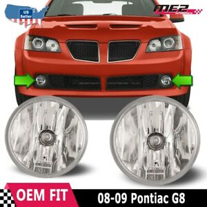 For Pontiac G8 08-09 Bumper Driving Fog lights Lamps Replacement Pair Clear