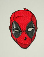 Official Marvel Comics Deadpool Mask Red Iron-On Cloth Jacket Patch New