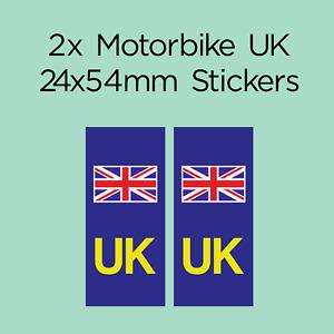 UK Motorbike Number Plate Sticker UK, Union Jack, EU, Europe
