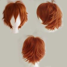 Vogue Warped Short Hair Heat Resistant Wig Colourful Cosplay Daily Party Dip Dye