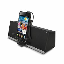 New iLuv IMM375BLK MobiDock 3.5mm Aux Stereo Speaker Dock with MicroUSB Charging