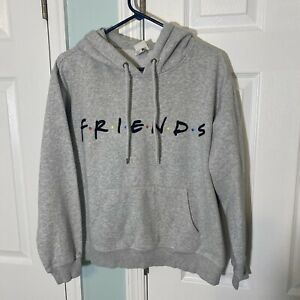 """H&M """"Friends"""" Warner Bros TV Series Gray Hoodie Pullover Women's Size L Large"""
