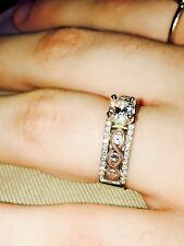 Tone Diamond Engagement Ring with Diamond One of a Kind! Divine 14K Two