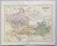 Unframed map BERKSHIRE c1891 Mackenzie Weller 32x26cm *[15057]