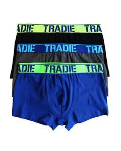 Boys Tradie 2 x 3 Pack Fitted Boxer Shorts Trunks Energy (SK3)
