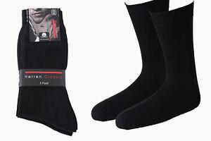 10-100 Paar Herren Socken Business schwarz 100%BW ohne Naht handgekettelt SP