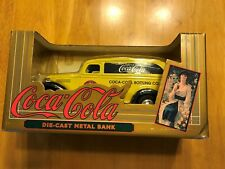 New in Box Coca Cola 1936 Chevy Panel Truck  Die Cast Metal Bank