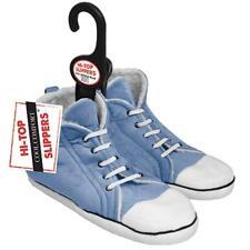 Unisex retro Slippers boys Hi-Top trainer design size blue kids small xmas gift