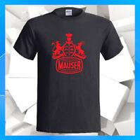 Mauser Hunting Rifles Logo M 98 M 12 M 03 Men's Black T-Shirt S M L XL 2XL 3XL