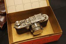 Leitz  Leica IIIa   with Summar 50mm f2 and large leica box LUOOB