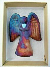 Raku Pottery Angel By Artist Jeremy Diller