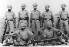British Empire Indian Sikh Soldiers World War 2 7x5 Inch Reprint Photo