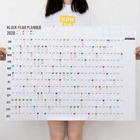 2020 Agenda Anual Calendario de Pared Papel Plan con Eva Pegatinas