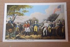 Postcard America surrender Of Burgoyne Saratoga  ,unposted
