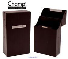 Cigarette Case - Champ Aluminium Black Metal Flip Top Superking Packet - NEW