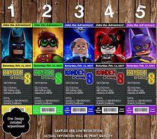 Lego Batman - Movie - Party Ticket Invitations -20 Printed W/envelopes