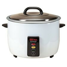 Aroma 60 Cup Commercial Electric Rice Cooker ARC-1033E White, Durable body New