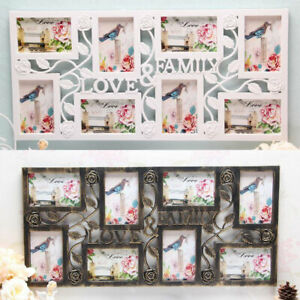 Multi Aperture Photo Picture Frame hold 8-10 Photos Large Multi Picture  Photo