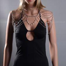 New Lady Women Bikini Accessory Shoulder Body Chain Tassel Bead Wedding Jewelry