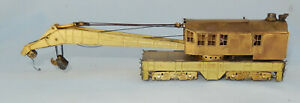 Vintage HO Scale Brass Bucyrus Erie Railway Crane made in Japan