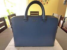 Michael Kors Blue Briefcase Crossgrain Saffiano Italian Leather Men's Ret. $595