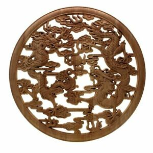 Applique Frame European Style Dragon Carved Wood Decal Home Furniture Decoration