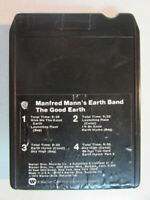MANFRED MANN'S EARTH BAND THE GOOD EARTH VINTAGE 1974 8 TRACK TAPE CARTRIDGE OOP