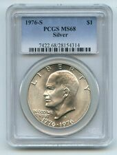 1976 S $1 Silver Ike Eisenhower Dollar PCGS MS68