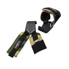 Zughilfen Klimmzughaken Latzughilfen Neoprene Griffhilfen Camouflage Olive NEU