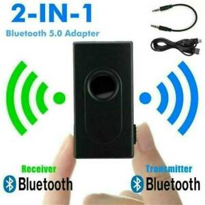 USB Bluetooth 5.0 Transmitter &Receiver Stereo Audio Adapter AUX 3.5mm TV CAR PC