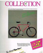Publicité Advertising 1989 Le Velo VTT 3 Z Top Peugeot
