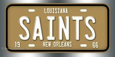 New Orleans Saints Football NFL  License Plate Vanity Auto Tag Fathers Day