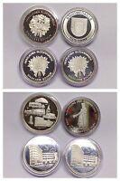 4X Medallas Sparkasse Bochum Medalla de Plata con Certificado Plata Fina