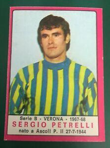 RARA FIGURINA CALCIATORI PANINI 1967-68 VERONA PETRELLI