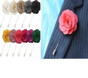 UK Handmade Flower Brooch Boutonnière Suit Lapel Wedding Party Accessory