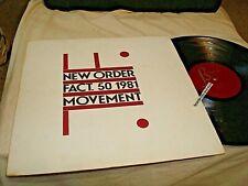 NEW ORDER-FACT.50 1981 MOVEMENT-FACTORY VINYL RECORD ALBUM VG+/VG+ LP
