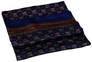 Blue Red Green Squares Printed Double Layer Long Pure Silk Scarf (M709)