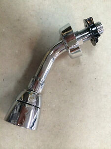 """New Mobile Home Parts Shower Head and Arm 1/2"""" Chrome Plastic"""