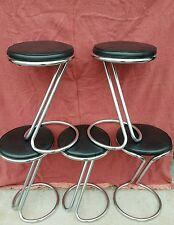 Vintage Z-Bar Gilbert Rhode Style Stools - Set of 5