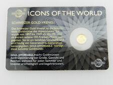Ruanda 10 FRW von 2016 - Schweizer Vreneli in 999er Gold  - V330