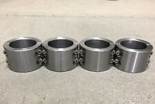 """4 - 2 Pc Steel Universal Weld On Fabrication Clamps 1.75"""" - 4 Blt  Roll Bar Cage"""